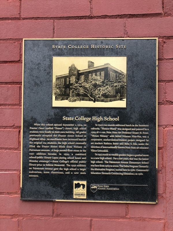State College High School Marker image. Click for full size.