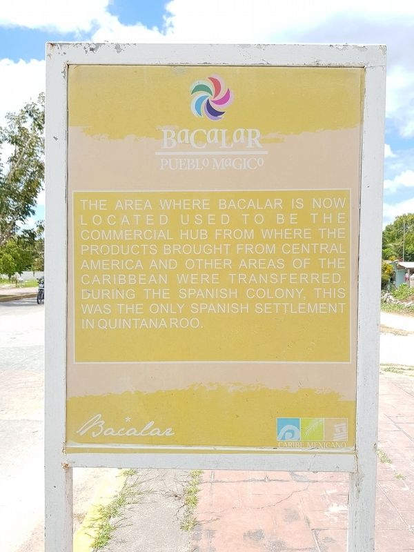 Bacalar Marker in English image. Click for full size.