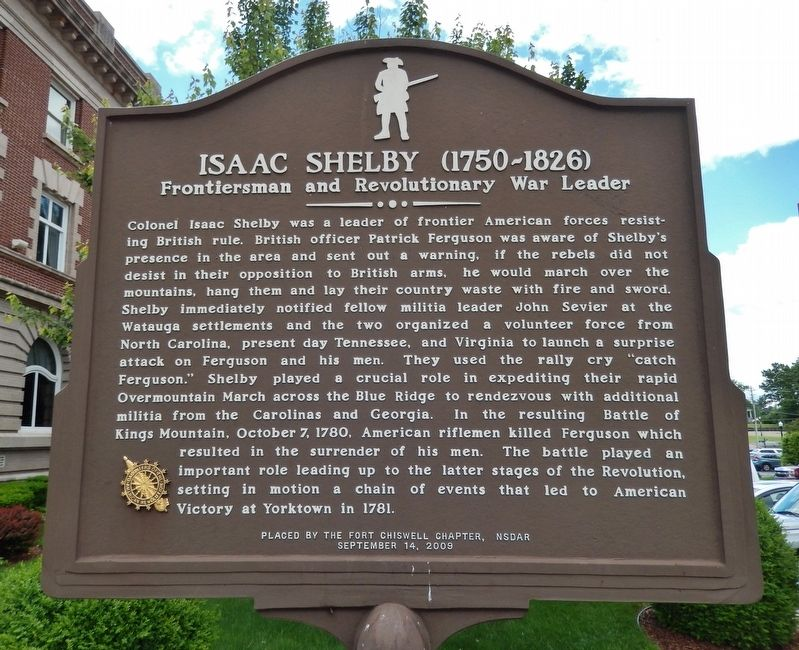 Isaac Shelby (1750-1826) Marker image. Click for full size.
