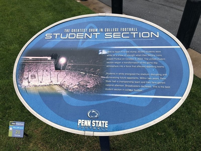 Student Section Marker image. Click for full size.