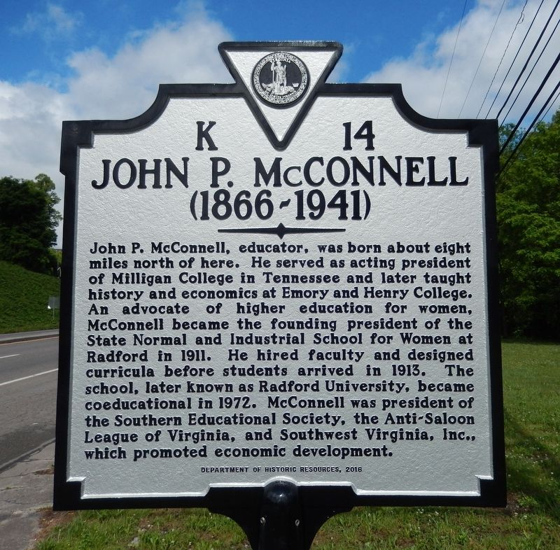 John P. McConnell Marker image. Click for full size.