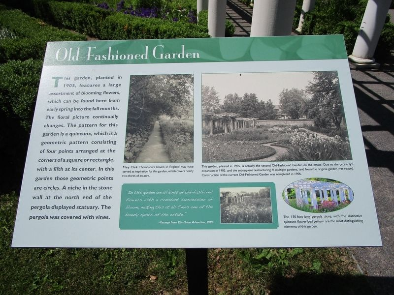 Old-Fashioned Garden Marker image. Click for full size.