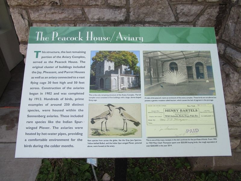 The Peacock House/Aviary Marker image. Click for full size.