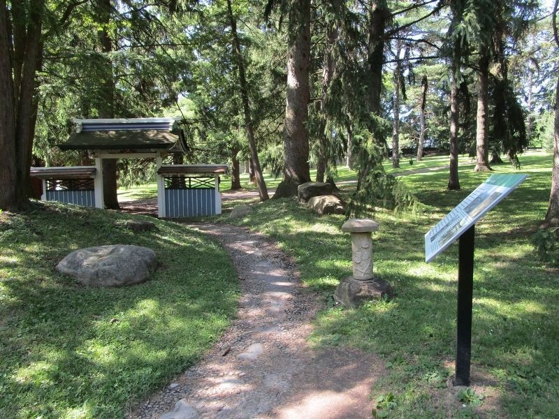 Japanese Garden Marker & an Entrance image. Click for full size.