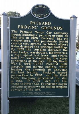 Packard Proving Grounds Marker image. Click for full size.
