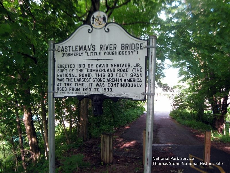 Castleman's River Bridge State Park Marker at east end of bridge. image. Click for full size.