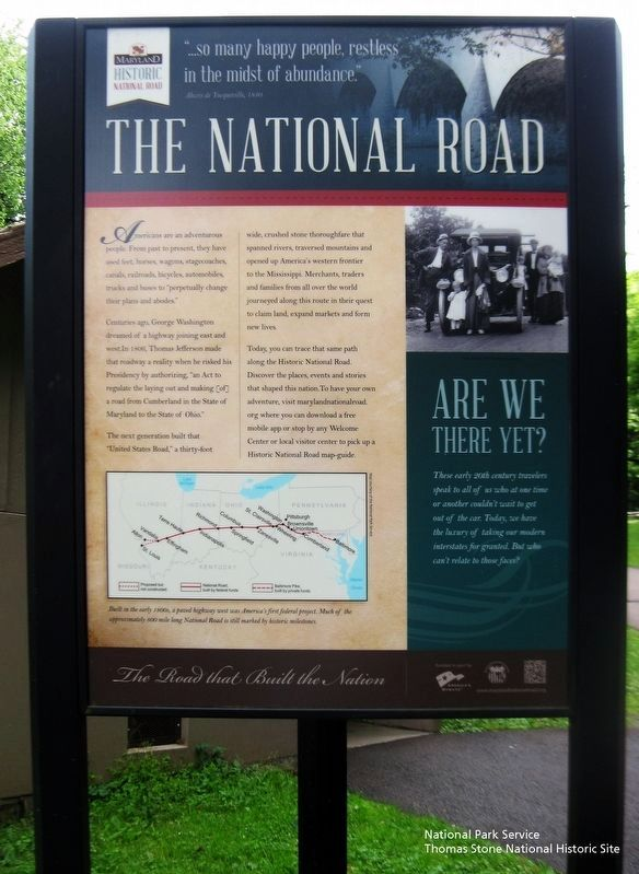 National Road marker at east end of bridge. image. Click for full size.