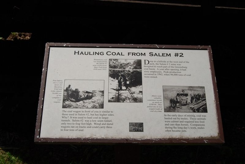 Hauling Coal From Salem #2 Marker image. Click for full size.