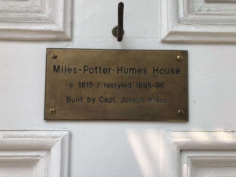 Miles-Potter-Humes House Marker image. Click for full size.