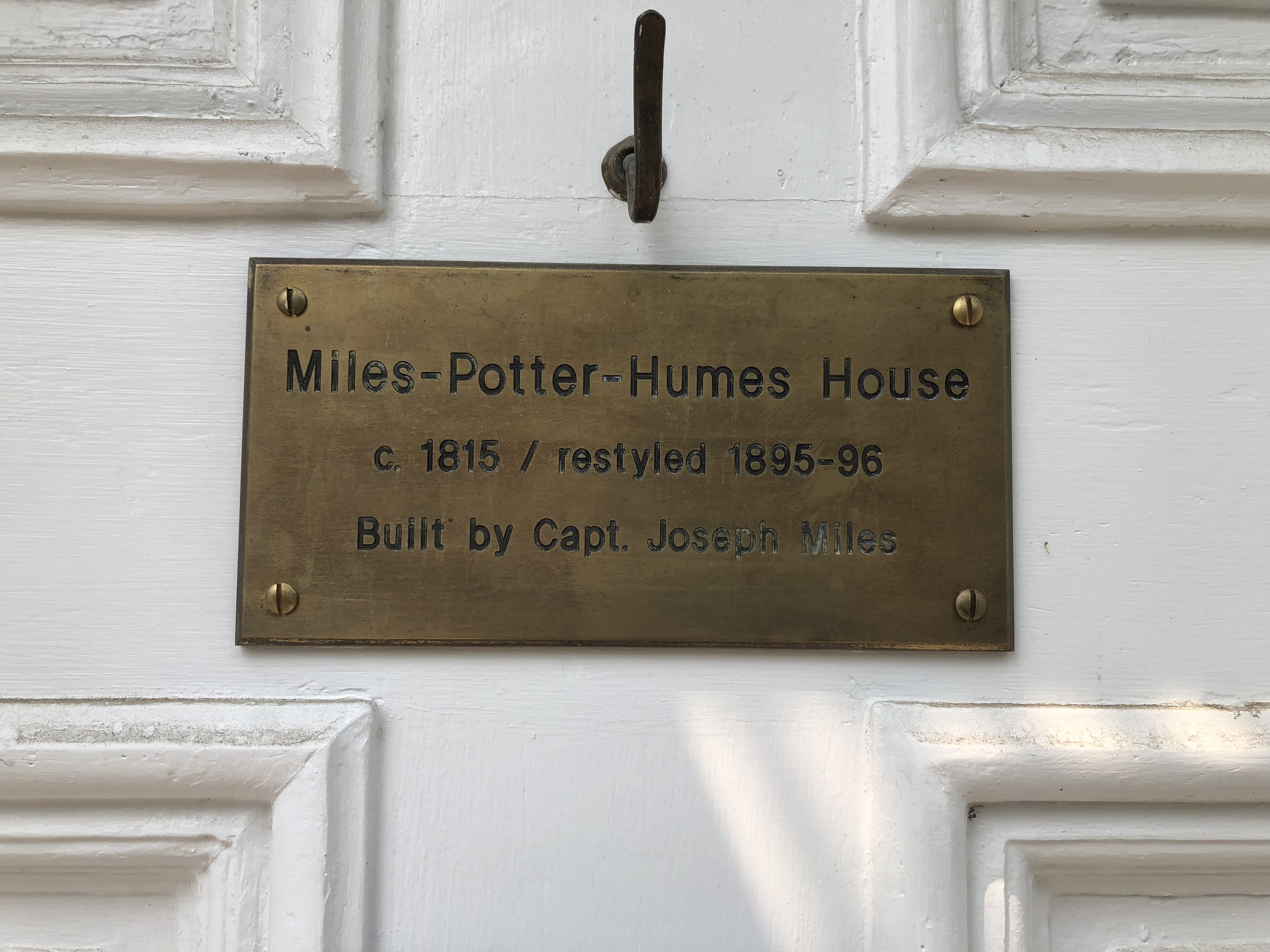 Miles-Potter-Humes House Marker