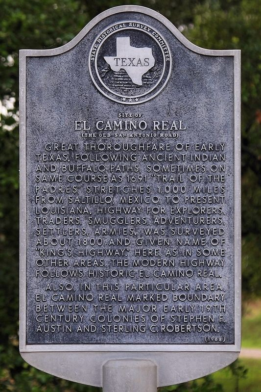 Site of El Camino Real Marker image. Click for full size.