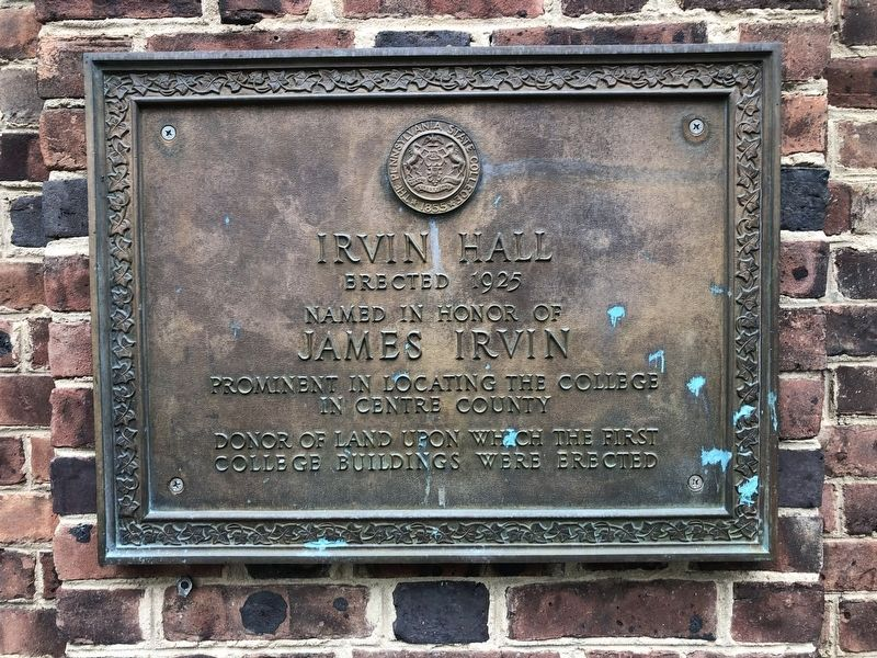 Irvin Hall Marker image. Click for full size.
