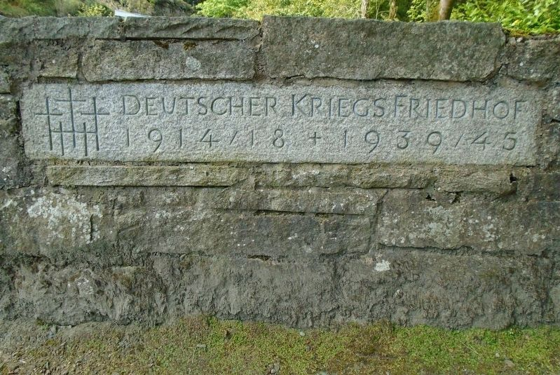 The German Military Cemetery, Glencree Sign image. Click for full size.