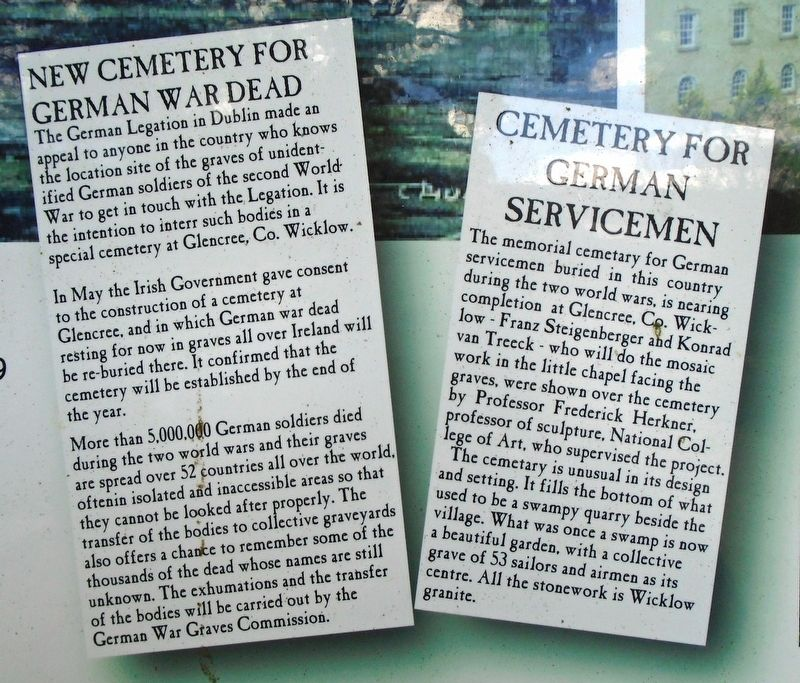The German Military Cemetery, Glencree Marker Detail image. Click for full size.