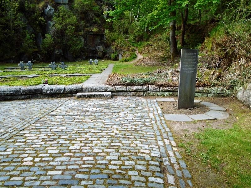 Stan O'Brien Poem Pillar in the German Military Cemetery, Glencree image. Click for full size.