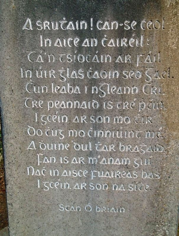 Stan O'Brien Gaelic Poem in the German Military Cemetery, Glencree image. Click for full size.