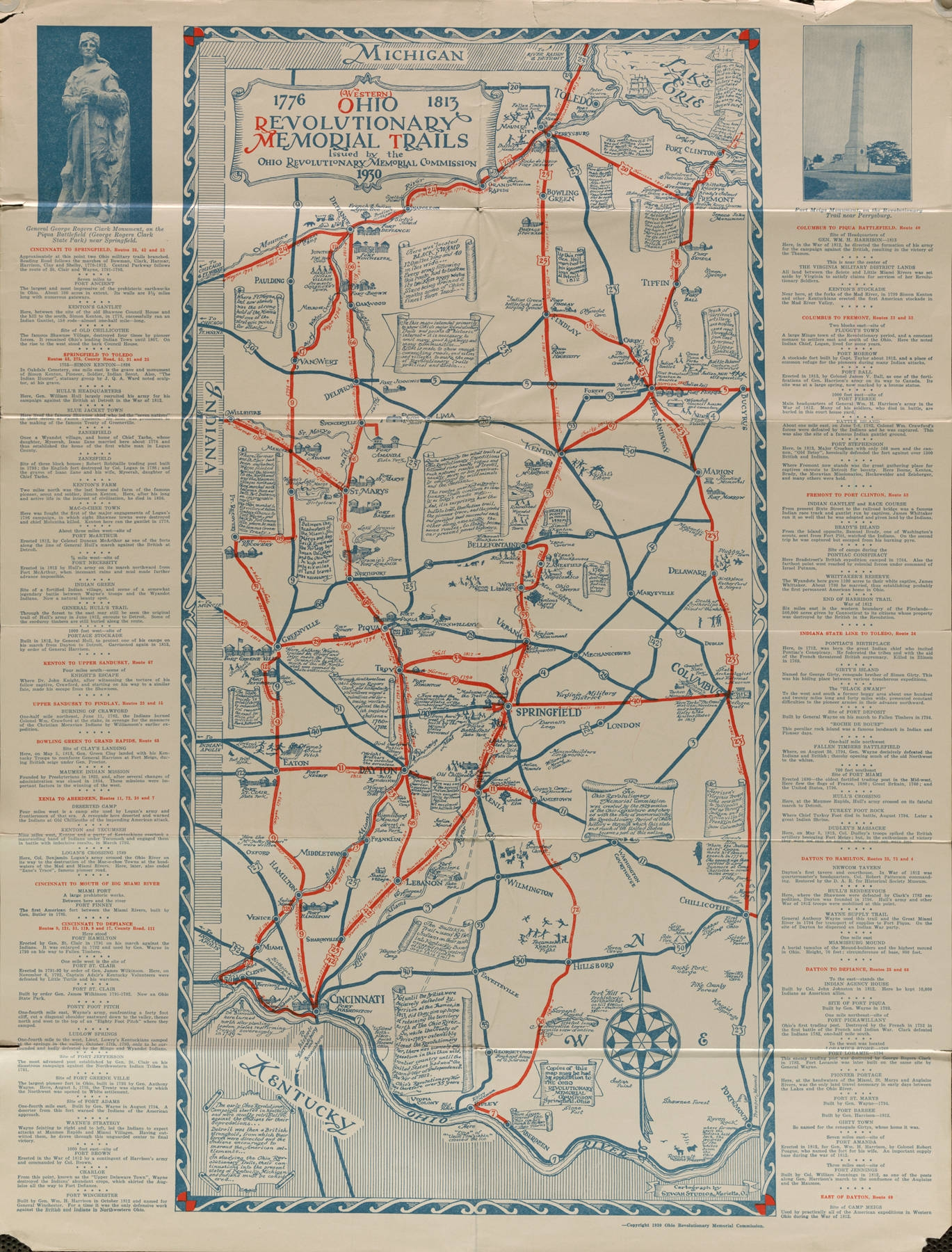 Ohio Revolutionary Memorial Trail Map