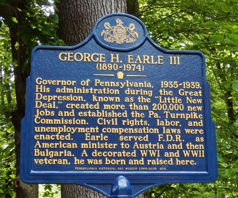George H. Earle III Marker image. Click for full size.