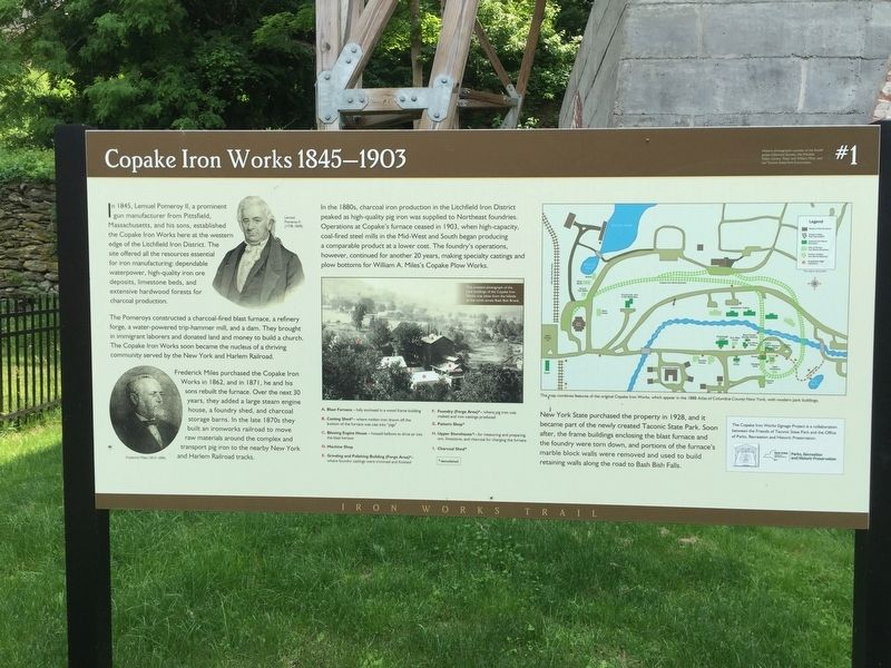 Copake Iron Works Marker image. Click for full size.