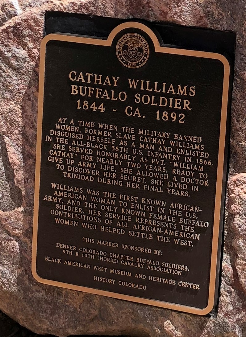 Cathay Williams, Buffalo Soldier, 1844- CA. 1892 Marker