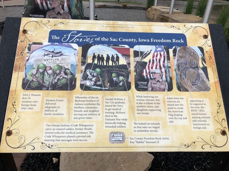 Sac City Freedom Rock Veterans Memorial image. Click for full size.