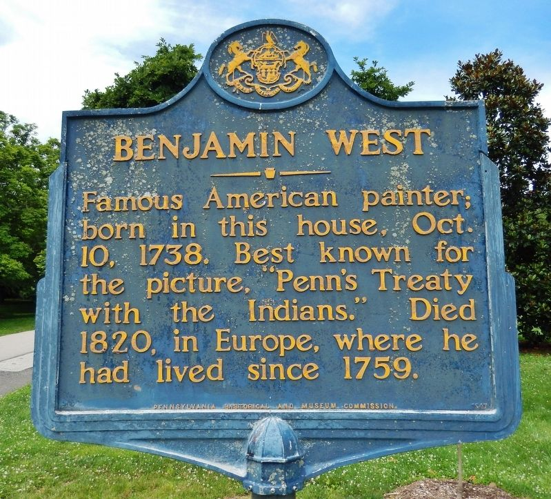 Benjamin West Marker image. Click for full size.