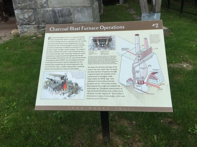 Charcoal Blast Furnace Operations Marker image. Click for full size.