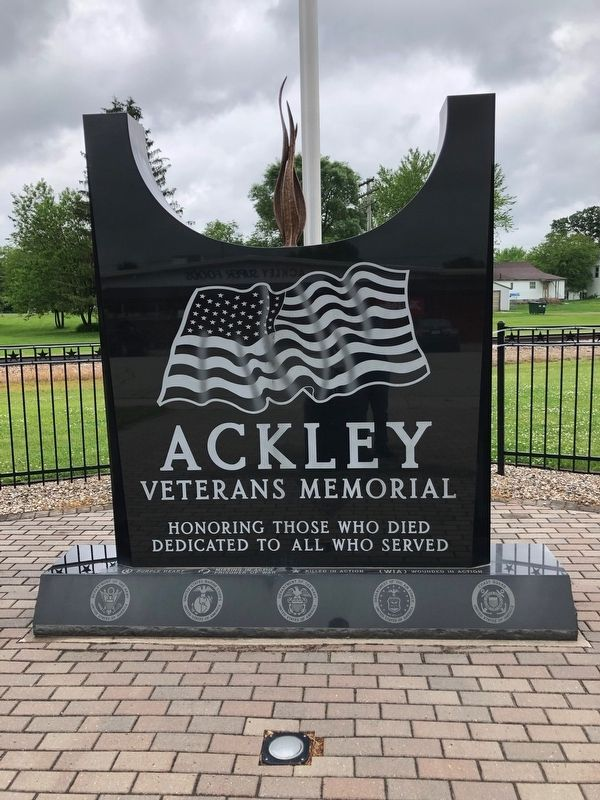 Ackley, Iowa Veterans Memorial image. Click for full size.