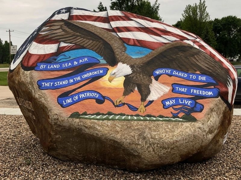 Readlyn Freedom Rock Veterans Memorial image. Click for full size.