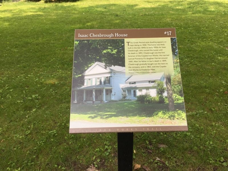 Isaac Chesbrough House Marker image. Click for full size.