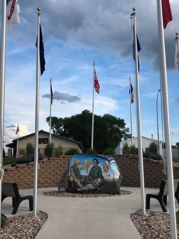 Livermore Freedom Rock Veterans Memorial image. Click for full size.