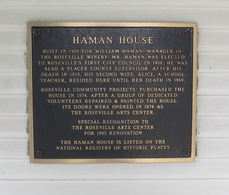 Haman House Marker image. Click for full size.
