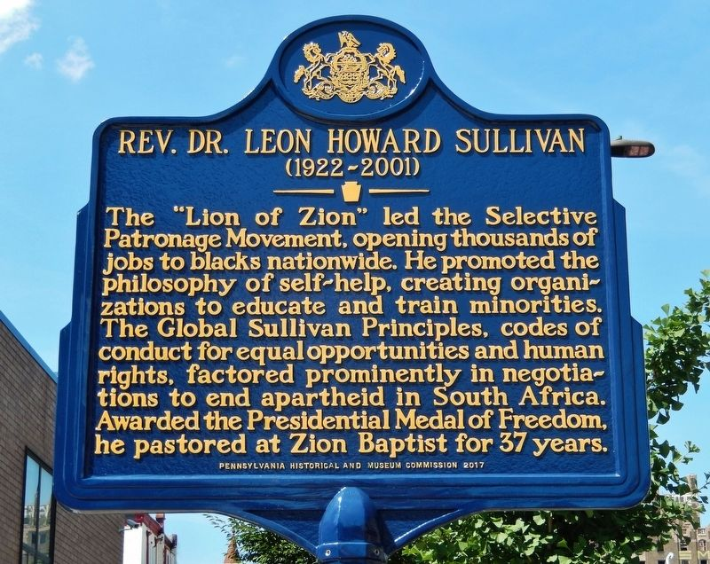 Rev. Dr. Leon Howard Sullivan Marker image. Click for full size.