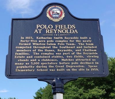 Polo Fields At Reynolda Marker image. Click for full size.