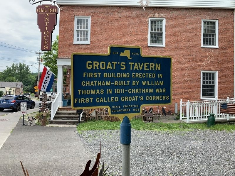 Groat's Tavern Marker image. Click for full size.