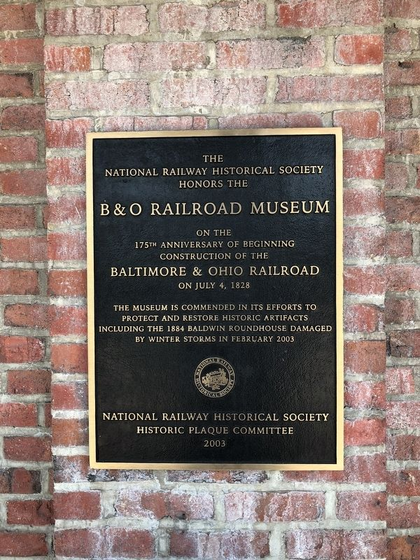 B&O Railroad Museum Marker image. Click for full size.