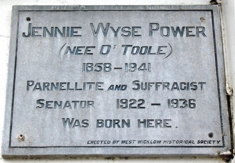 Jennie Wyse Power Marker image. Click for full size.