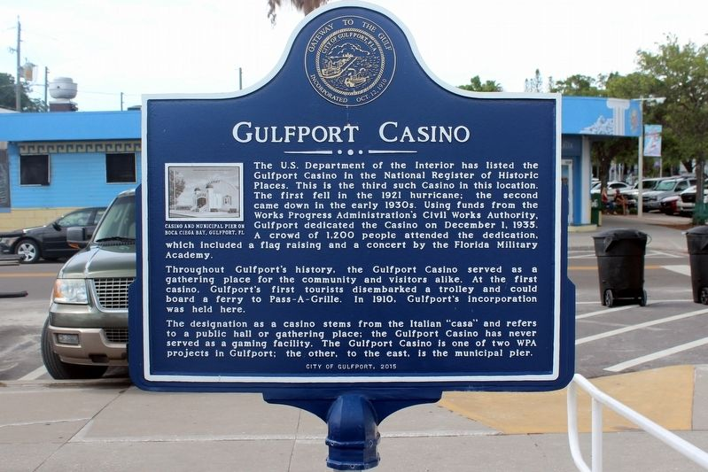 Gulfport Casino Marker image. Click for full size.