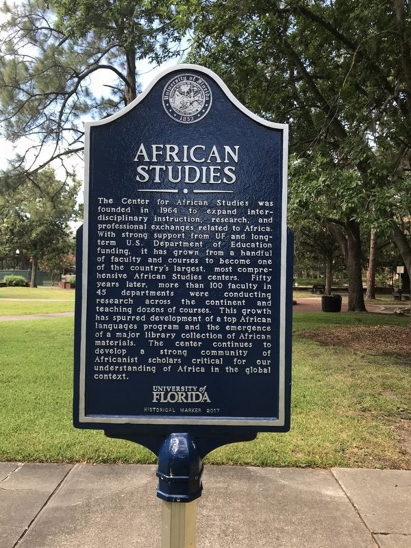 African Studies Marker image. Click for full size.