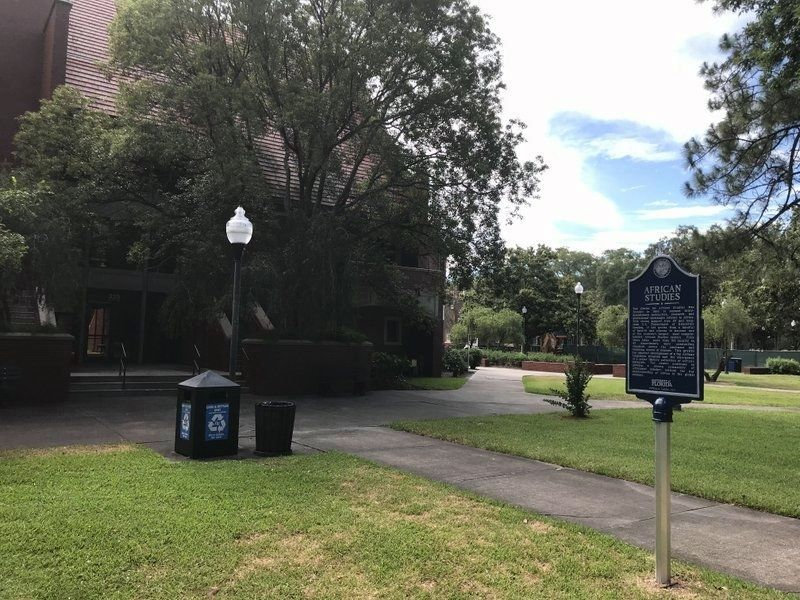 African Studies Marker in grassy area image. Click for full size.