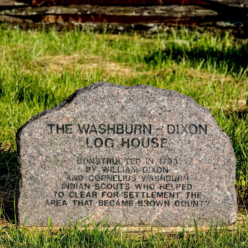 The Washburn-Dixon Log House Monument image. Click for full size.