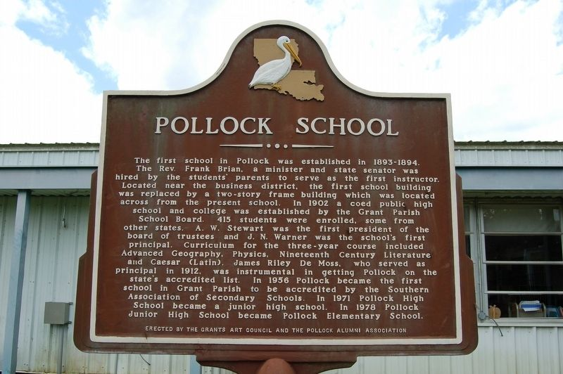 Pollock School Marker image. Click for full size.