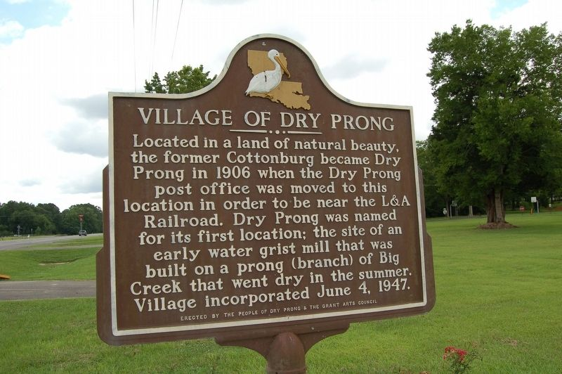 Village of Dry Prong Marker image. Click for full size.