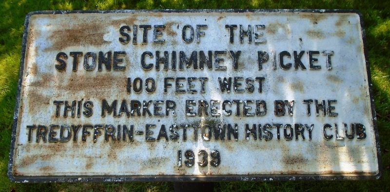 Site of the Stone Chimney Picket Marker image. Click for full size.
