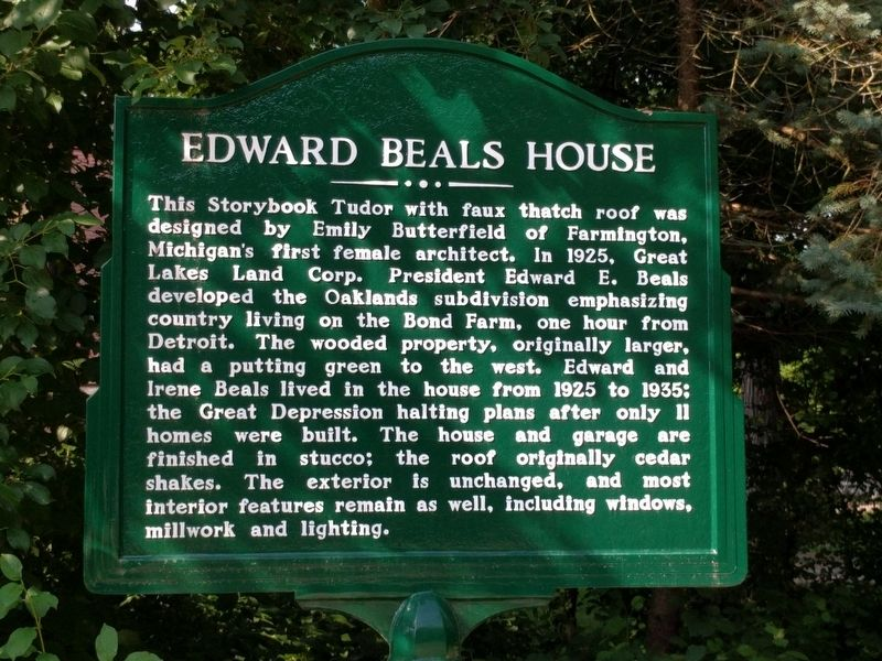 Edward Beals House Marker image. Click for full size.