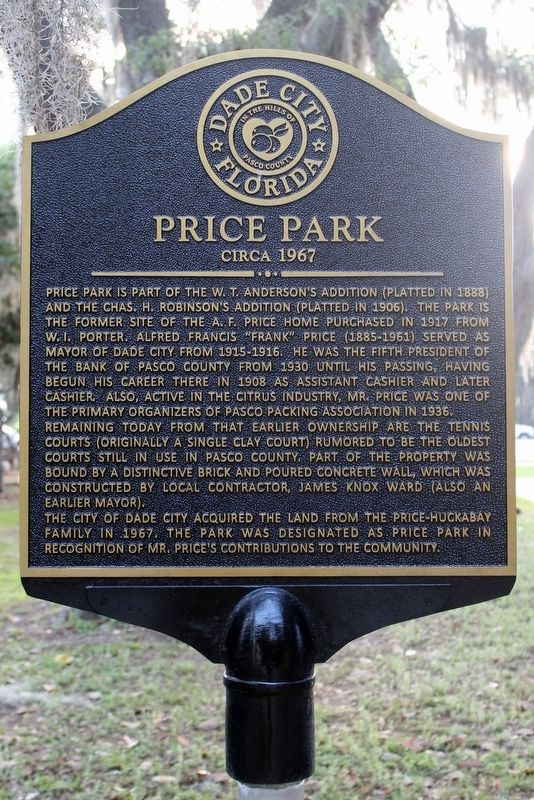 Price Park Marker image. Click for full size.