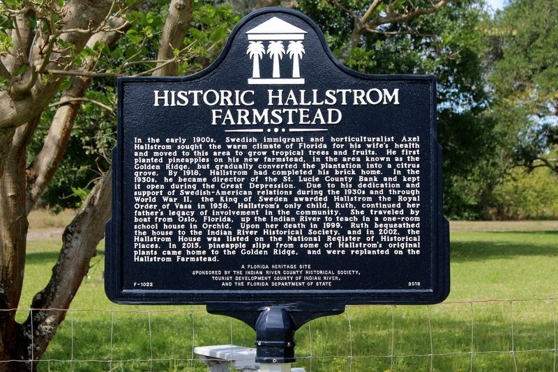 Historic Hallstrom Farmstead Marker image. Click for full size.