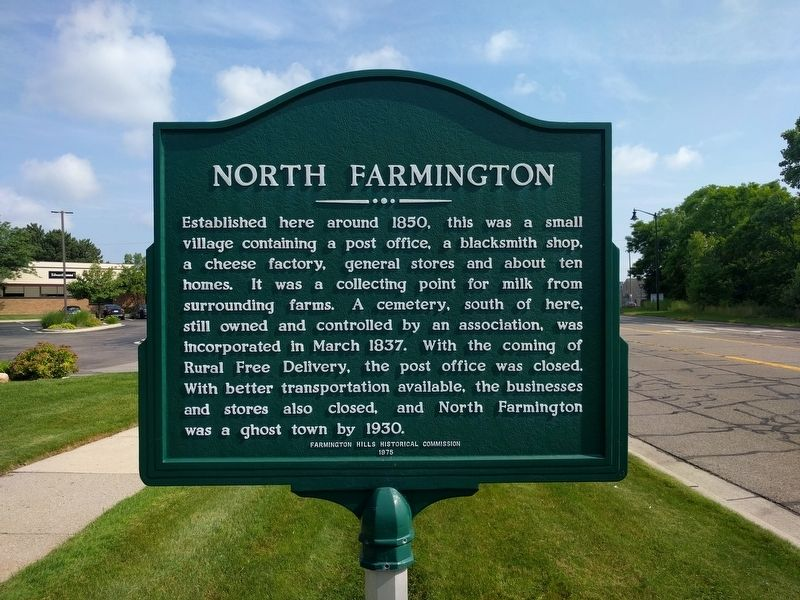 North Farmington Marker image. Click for full size.