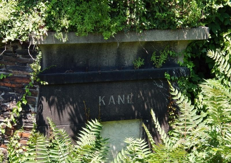 Kane Family Tomb<br>(<i>near marker • view obscured by foliage</i>) image. Click for full size.