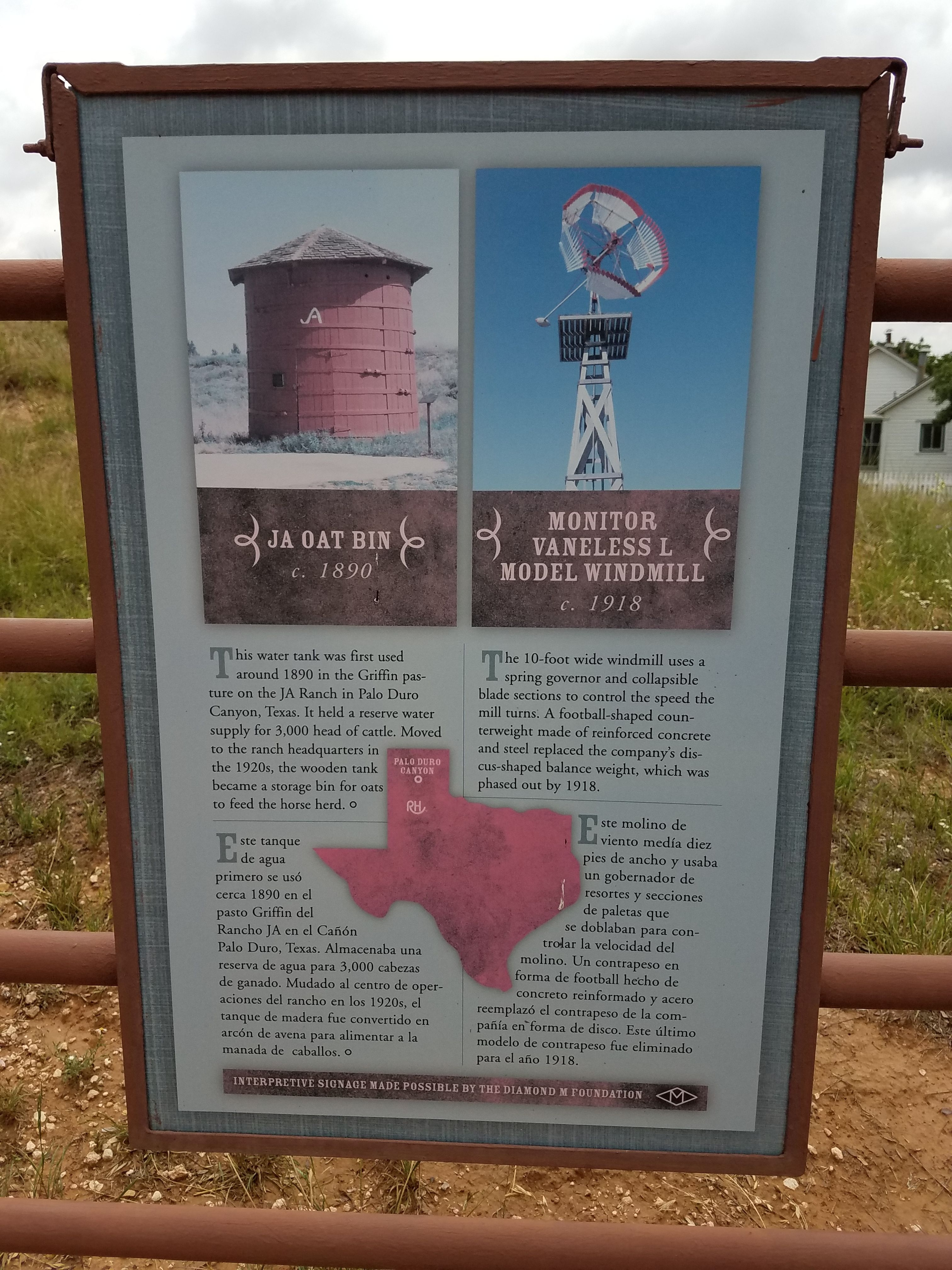 JA Oat Bin and Monitor Vaneless L Model Windmill Marker